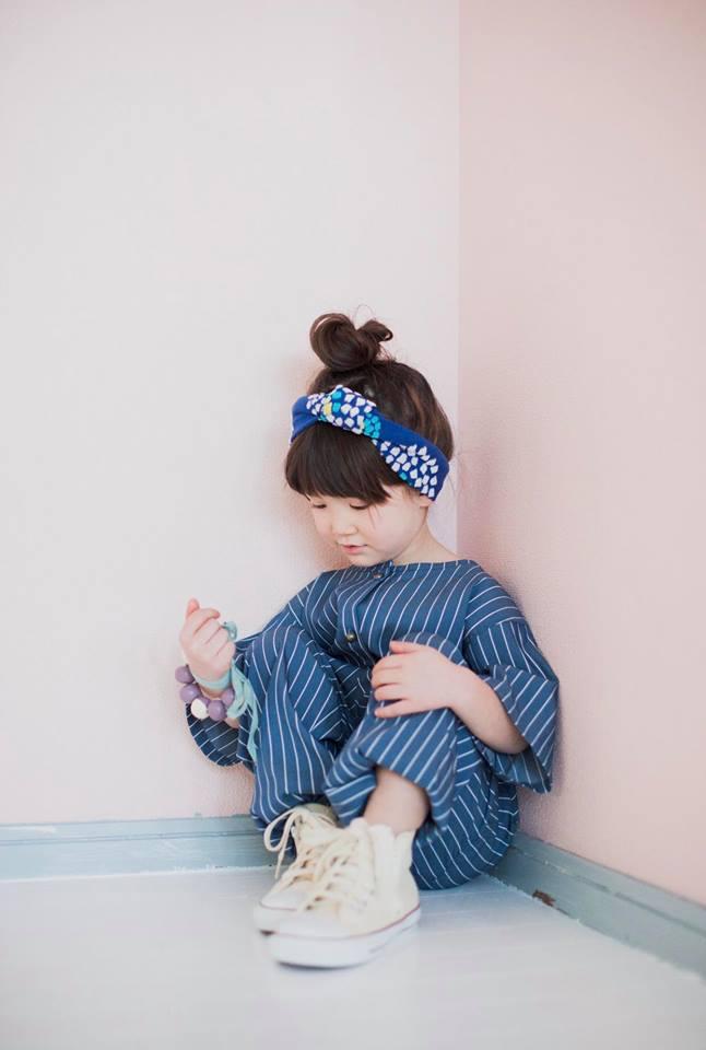 couture emma de choeur 青のストライプのアンサンブル