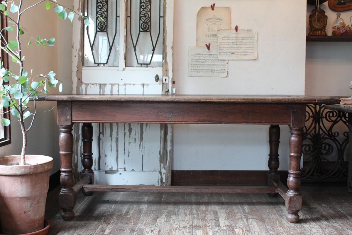 食卓テーブル,アンティークテーブル,店舗什器
