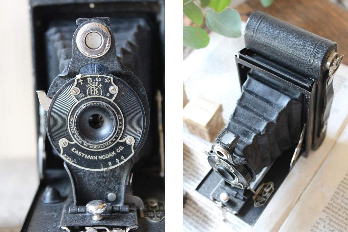 フランスの古い,イーストマンコダック,蛇腹式カメラ