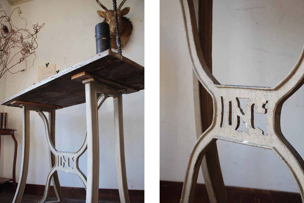 フランスアンティーク ファクトリーテーブル 作業台 工業系 インダストリアル 全国送料無料