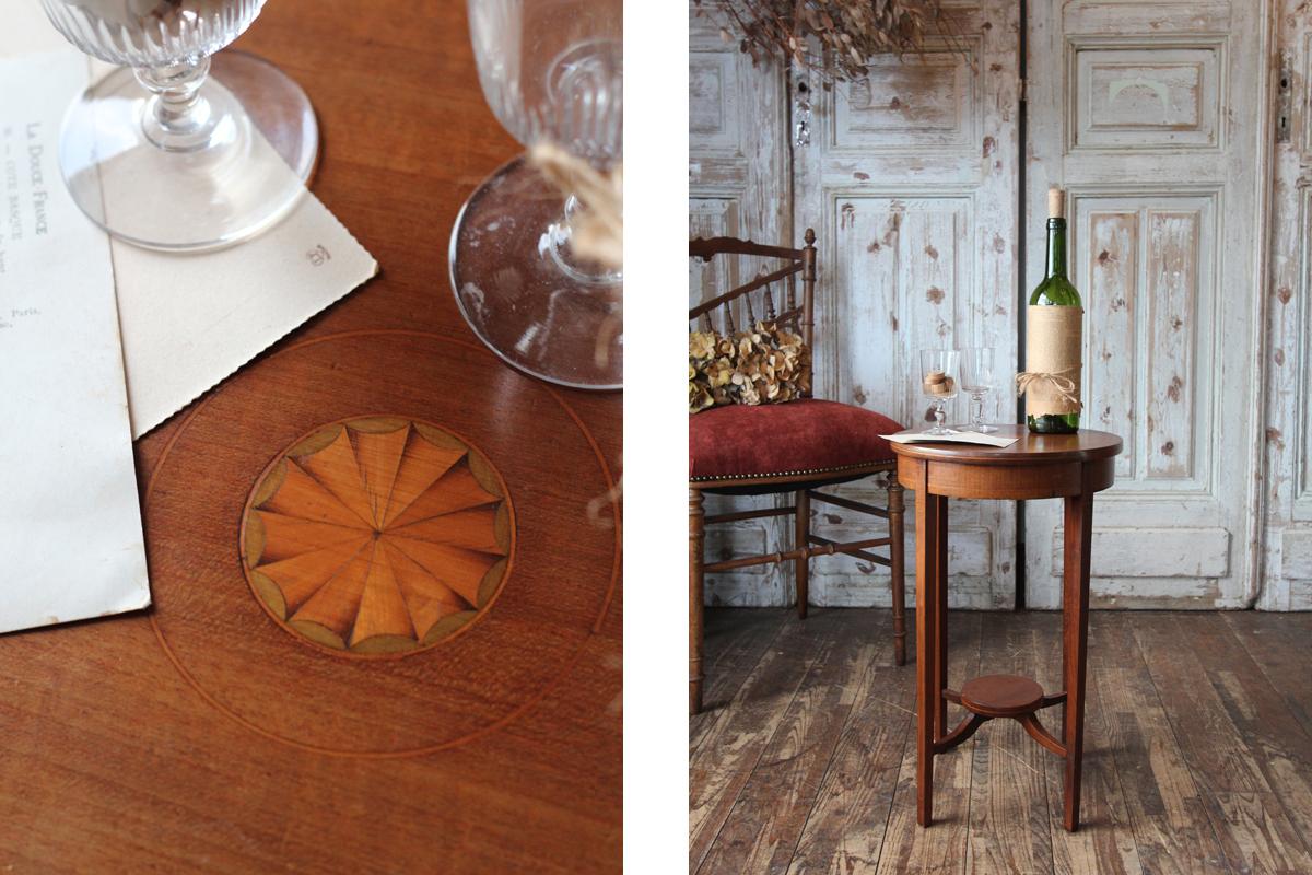 イギリスの古い サイドテーブル 机