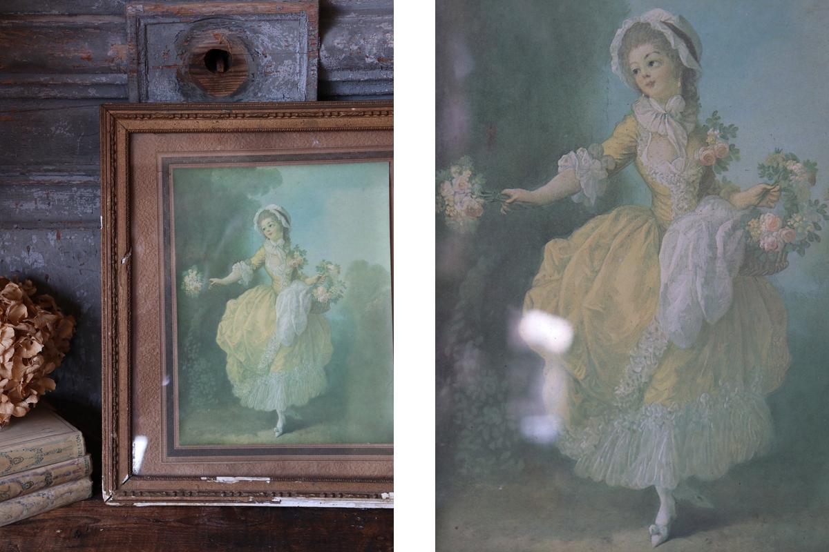 古い絵画 フレーム 全国送料無料