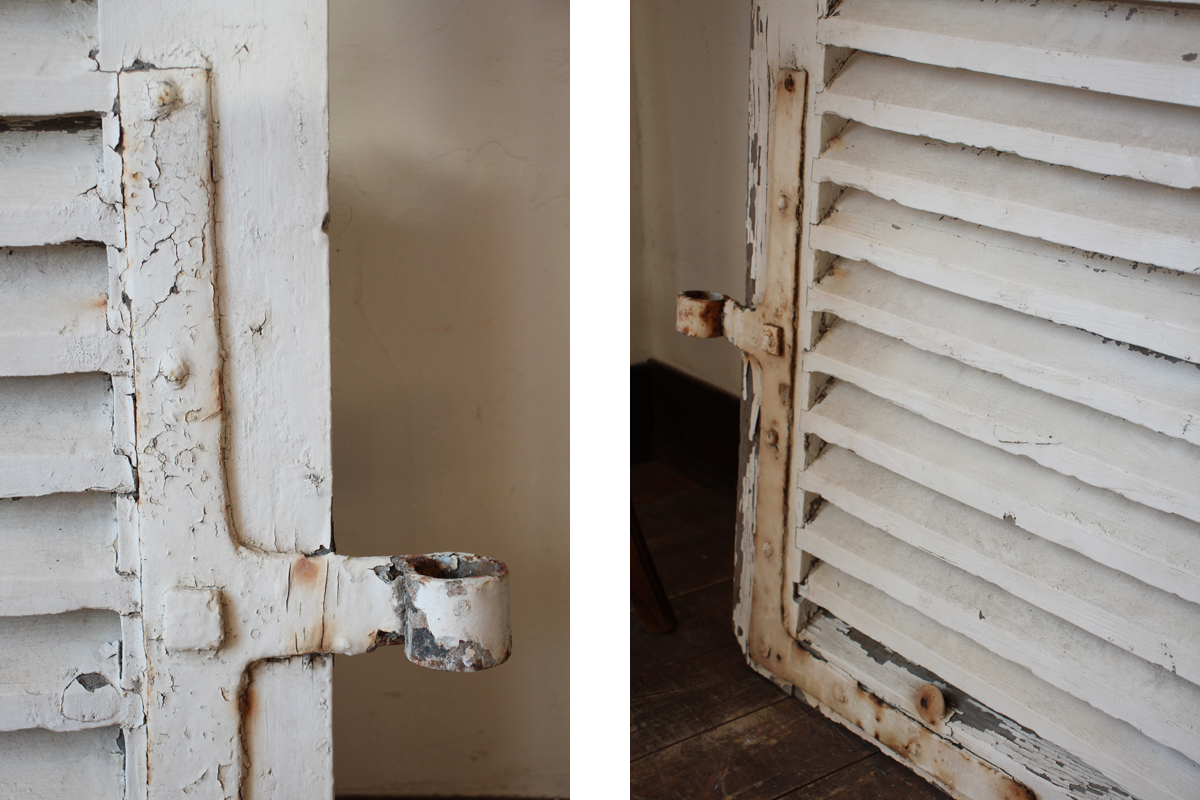 フランスアンティーク ヴォレー ルーバー 雨戸 シャビー 建具 全国送料無料