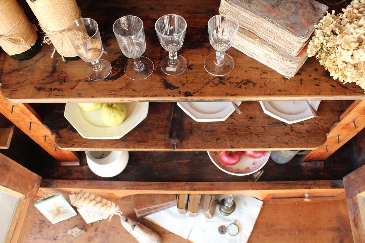 桜の木 チェリー 食器棚 フレンチアンティーク 全国送料無料