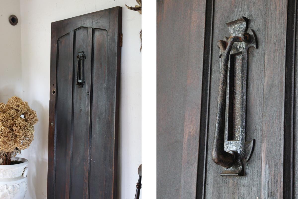 古いフランスのドア ブラウンの建具 全国送料無料