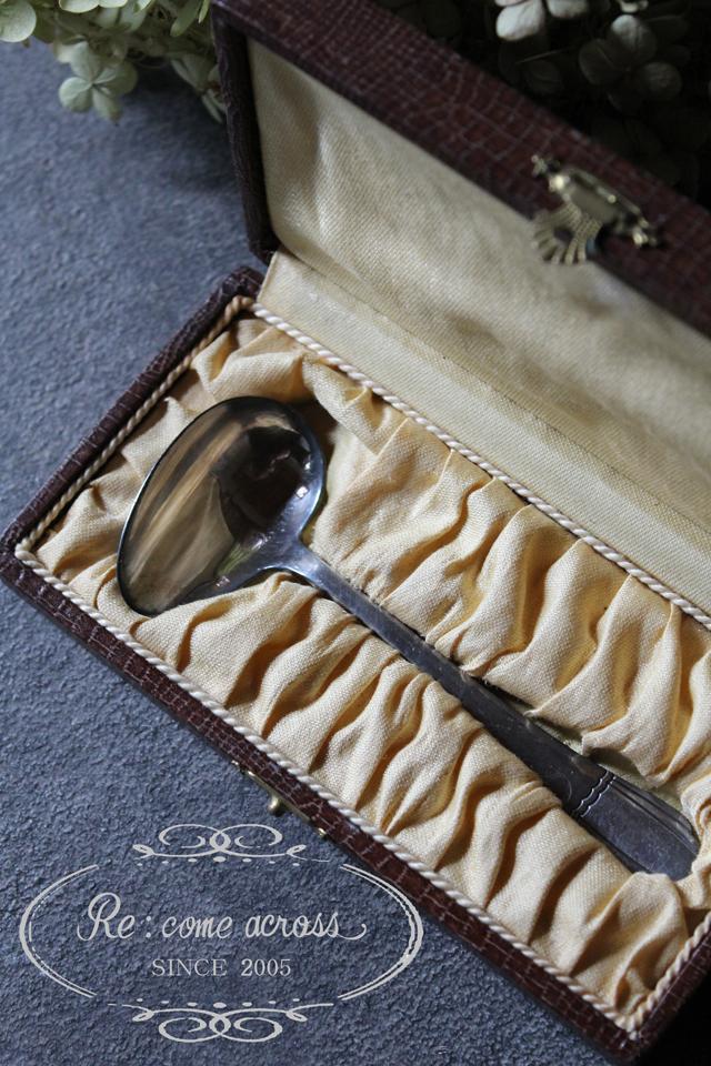 フランスブロカント ボックス付き ベビースプーン カトラリー
