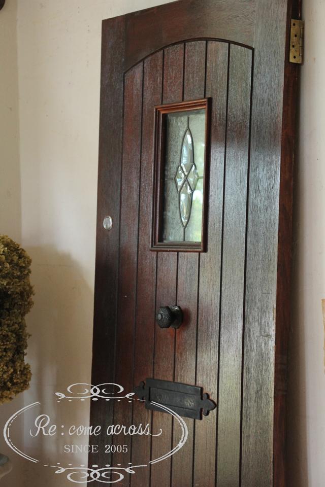 英国アンティーク ブラウンのドア 建具
