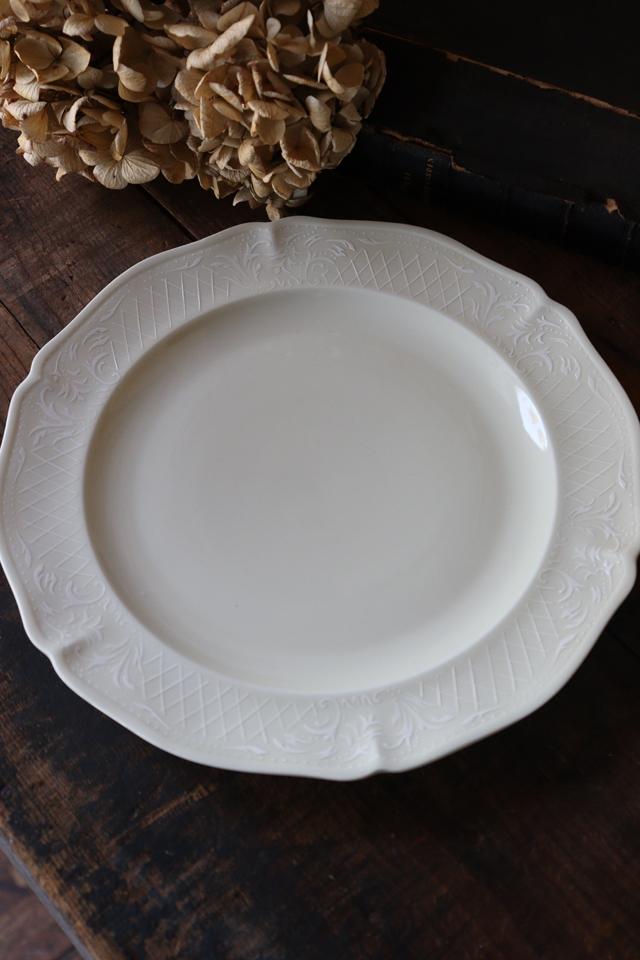 フランスBrocante ANCIENNE FABRIQUE ROYALE LIMOGES FRANCE リモージュ磁器 ディナープレート お皿