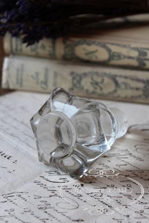 フランスの古いガラスの持ち手・パーツ・ノブ