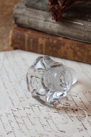フランスの古いガラスの持ち手 ・ パーツ ・ ノブ