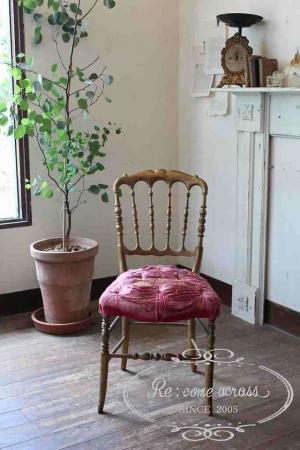 フランスアンティーク ゴールドフレームナポレオンチェア 椅子