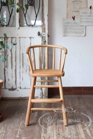 オーク材 キッズチェア・椅子