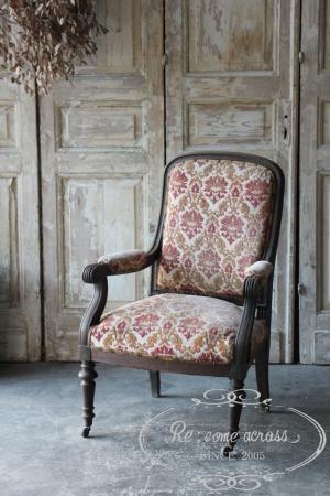 フランスの古い シングルソファ 椅子
