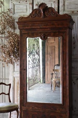 フランスアンティーク  アルモワールキャビネット 装飾家具 収納