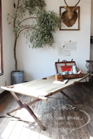 フランスブロカント コット ポータブルベッド