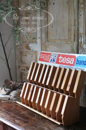 フランスブロカント tesa band 木製シェルフ 什器
