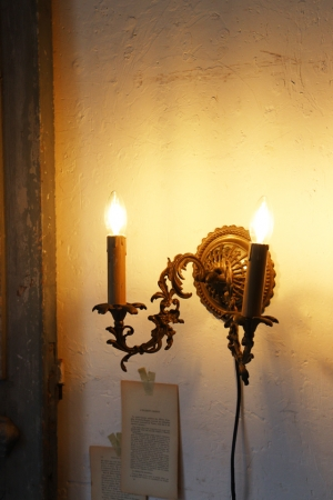 フランスBrocante ウォールブラケット ウォールランプ 照明 灯り