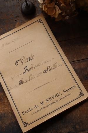 フランスアンティーク ペーパー 書類 1892年