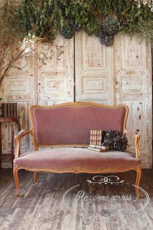 フランスアンティーク 15世様式 サロンソファフレンチソファ 2人掛け 椅子