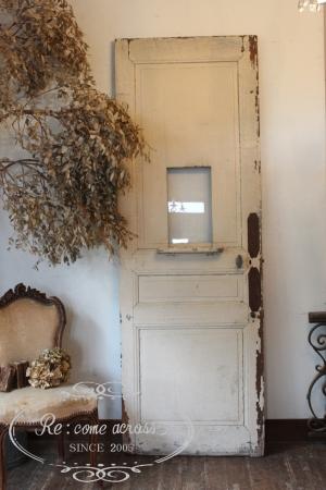フランスアンティーク 小窓の付いた ペイントドア