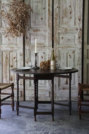 英国アンティーク ゲートレッグテーブル 小振りなバタフライテーブル 食卓テーブル 机