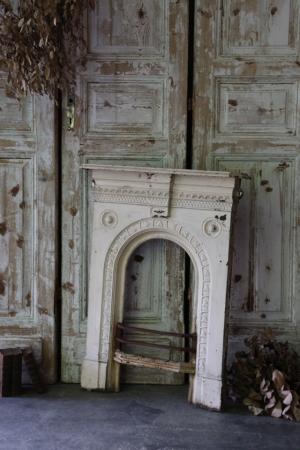 フランスアンティーク  アイアンのマントルピース 暖炉装飾