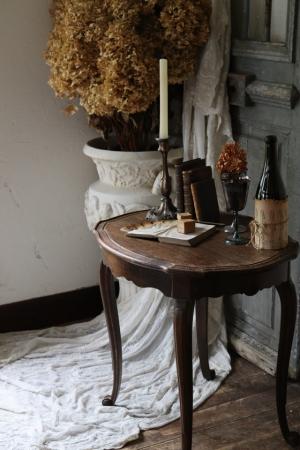 フランスアンティーク ガブリオールレッグ スモールテーブル サイドテーブル サブテーブル