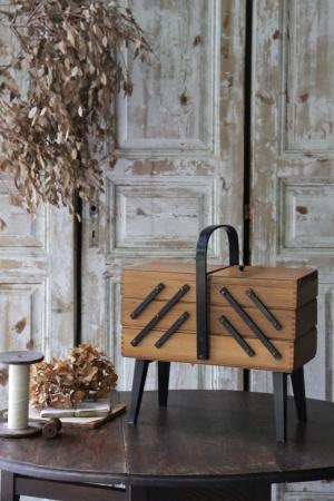 フランスBrocante ソーイングボックス 裁縫箱