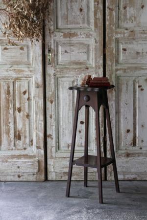イギリスの古い サイドテーブル ハイテーブル 花台 飾り台