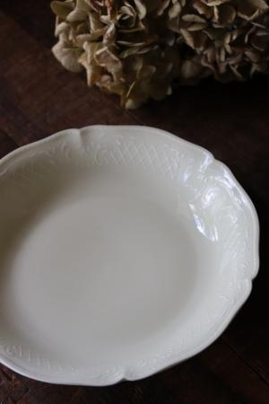フランスBrocante ANCIENNE FABRIQUE ROYALE LIMOGES FRANCE リモージュ磁器 スーププレート お皿
