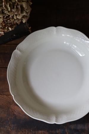 フランスBrocante ANCIENNE FABRIQUE ROYALE LIMOGES FRANCE リモージュ磁器 大皿 深皿