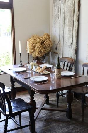 英国アンティーク バルボスレッグ ドローリーフテーブル 伸張式テーブル ダイニングテーブル